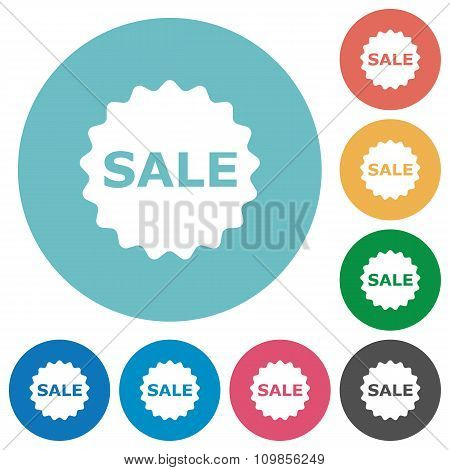 Flat Sale Badge Icons