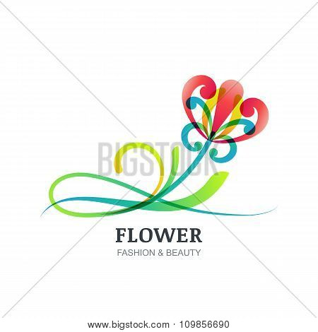Vector Illustration Of Colorful Exotic Flower.