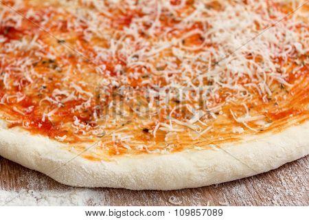 Preparation classic pizza