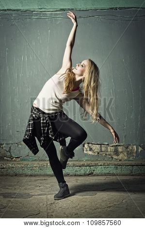 Active Female Dancer Moving