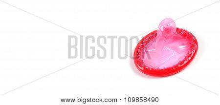 condom on white background