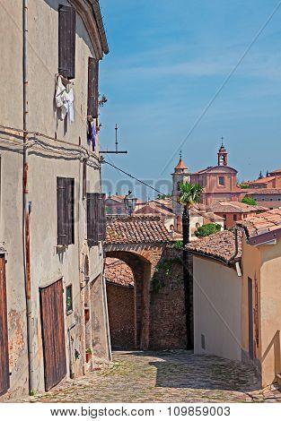 Cityscape Of Longiano, Emilia Romagna, Italy