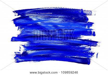 Paint Brush Stroke Texture Blue Watercolor
