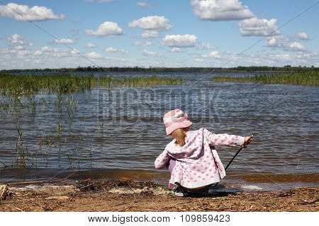 The Girl On The River Bank