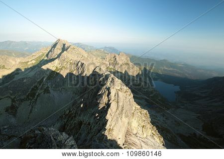 Tatra mountains towering over the valley