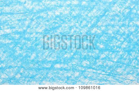 Background Blue Crayon Drawing