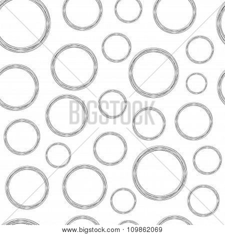 Stylized Grey Wire Circles On White Background