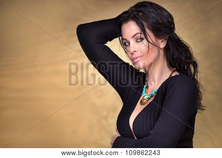 Portrit Of Sexy Woman In Studio.