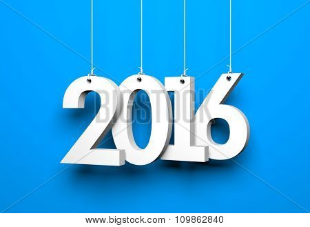 New year - 2016 - 3D digits