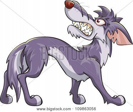 Angry Cartoon Wolf