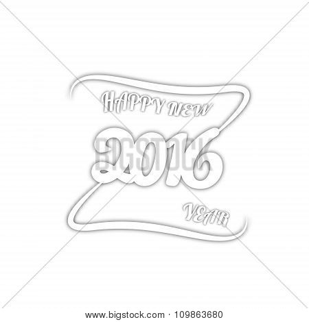 Happy new year. Vector paper illustration. Isolated on white