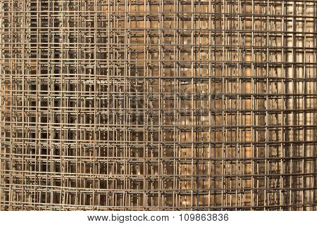 Pattern from stack of fittings grids at the construction site