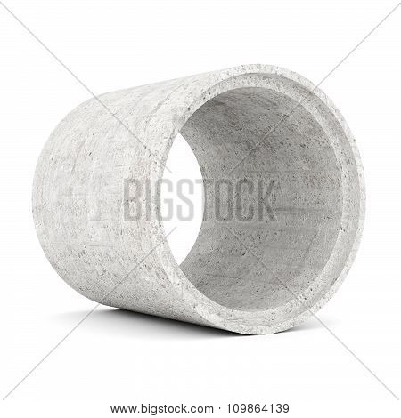 Concrete Pipes Isolated
