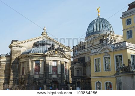 View From Frauenkirche Towards Academy Of Fine Arts, Dresden, Germany.