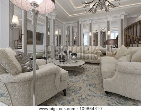 Luxury Living Room Classic Style
