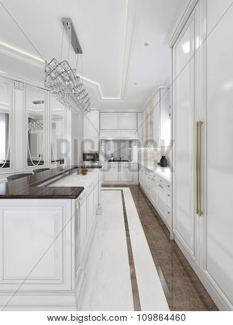 Luxury Kitchen In Classic Style