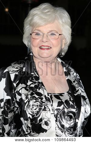 LOS ANGELES - FEB 15:  June Squibb at the Make-Up Artists And Hair Stylists Guild Awards 2014 at the Paramount Theater on February 15, 2014 in Los Angeles, CA
