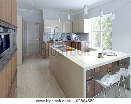Spacious Modern Kitchen Design