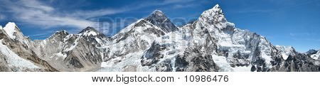Mount Everest panoramic photo