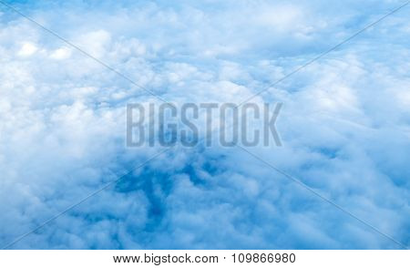 Cloudscape from above aerial shot