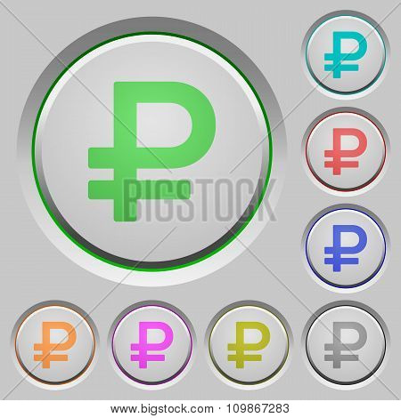 Ruble Sign Push Buttons