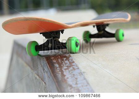 a skateboard on skatepark