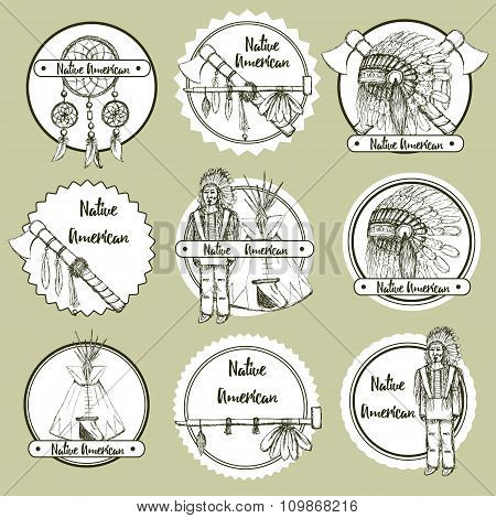 Sketch Native American Symbols