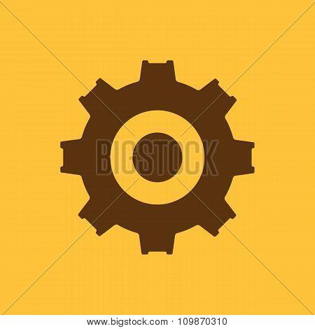 The gear icon. Settings symbol. Flat