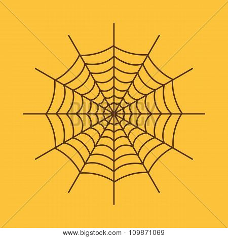 The spiderweb icon. Web symbol. Flat