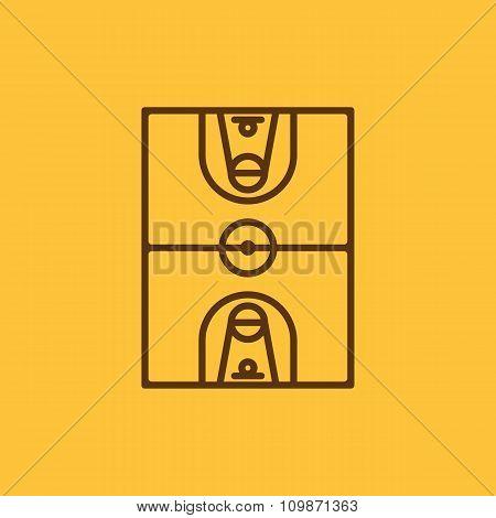 The basketball icon. Basketball symbol. Flat