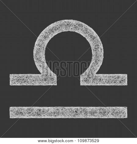 Libra zodiac sign line art