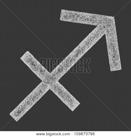 Sagittarius zodiac sign line art