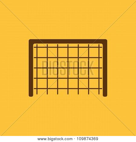 The Football gate icon. Soccer symbol. Flat