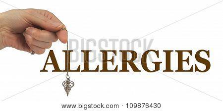 Using a Dowsing Pendulum to detect Allergies