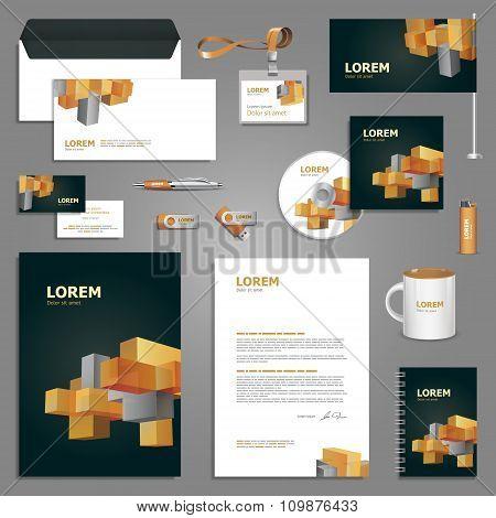 Geometric Stationery Template Design