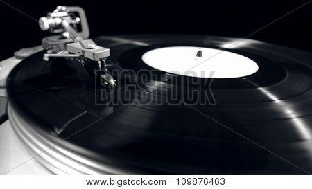 Music player playing vinyl music