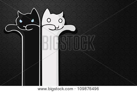 Cartoon cat - social character