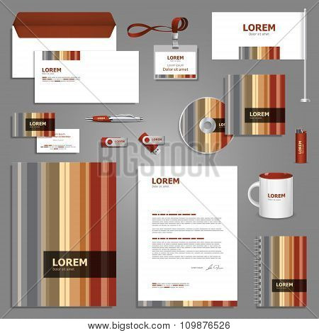 Brown Stationery Template Design