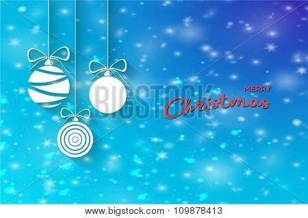 Vector  Christmas balls. Stock vector Illustration.