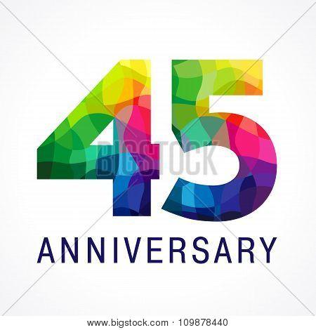 45 anniversary color logo.