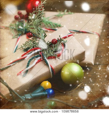 Decorated Christmas Gifts, Christmas Decorations And Garlands