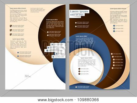Abstract Colored Brochure