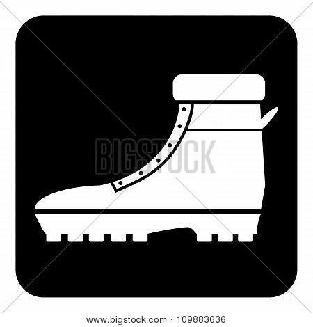 Boot Icon On White.