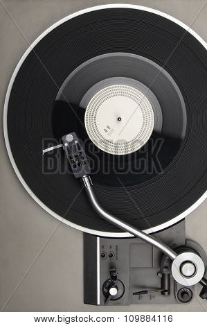 Closeup Of Vintage Turntable