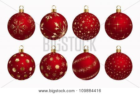 Christmas Ball Red Gold