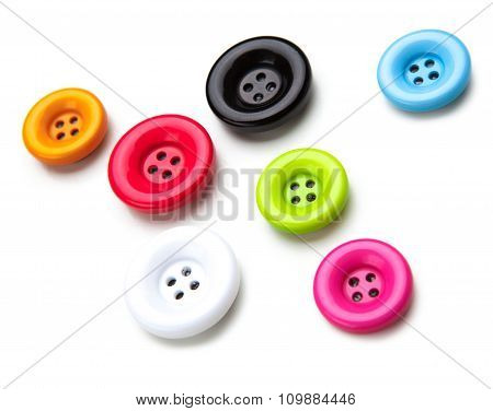 Brightly colored sewing buttons