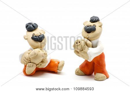 Two Figurines Of Men