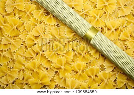 Yellow Pasta Background