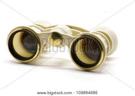Theater White Binoculars Front