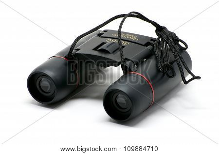 Isolated Black Binoculars